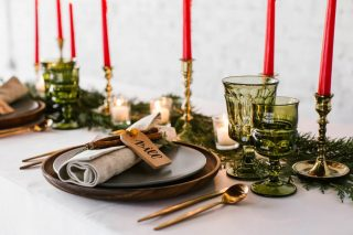 12 Days of Christmas Tabletops | 11 Pipers Piping