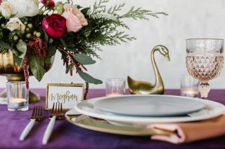 12 Days of Christmas Tabletops | 7 Swans a Swimming