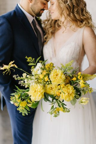 Marigold + Navy Wedding Inspiration Featured on ELD